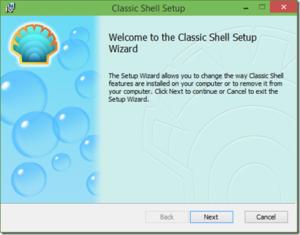 Classic shell for Windows setup.