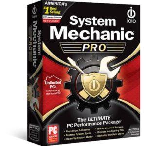 System Mechanic Pro installation DVD box.