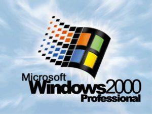Windows 2000 logo is very similar to Windows 98.