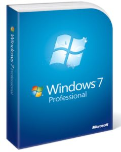 Windows 7 Professional boxshot.